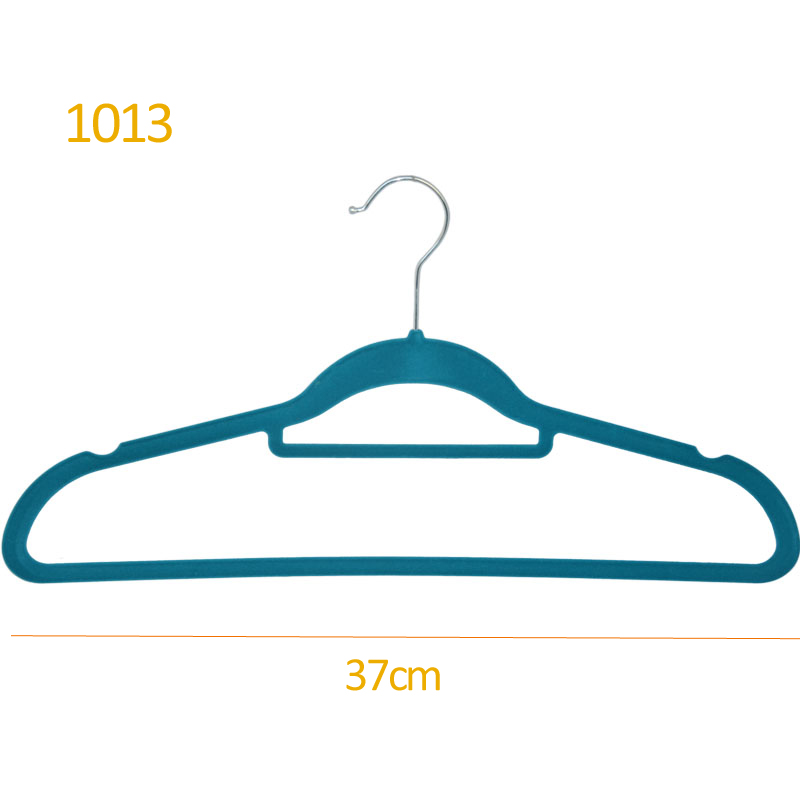 Garment flocking ultra thin plastic female hanger