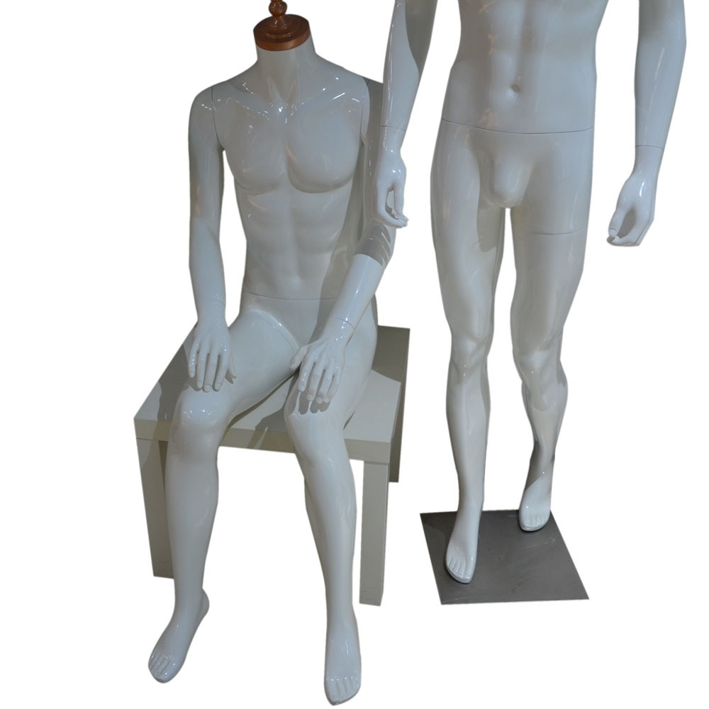 high quality fashion display male mannequin bust with flexible arms