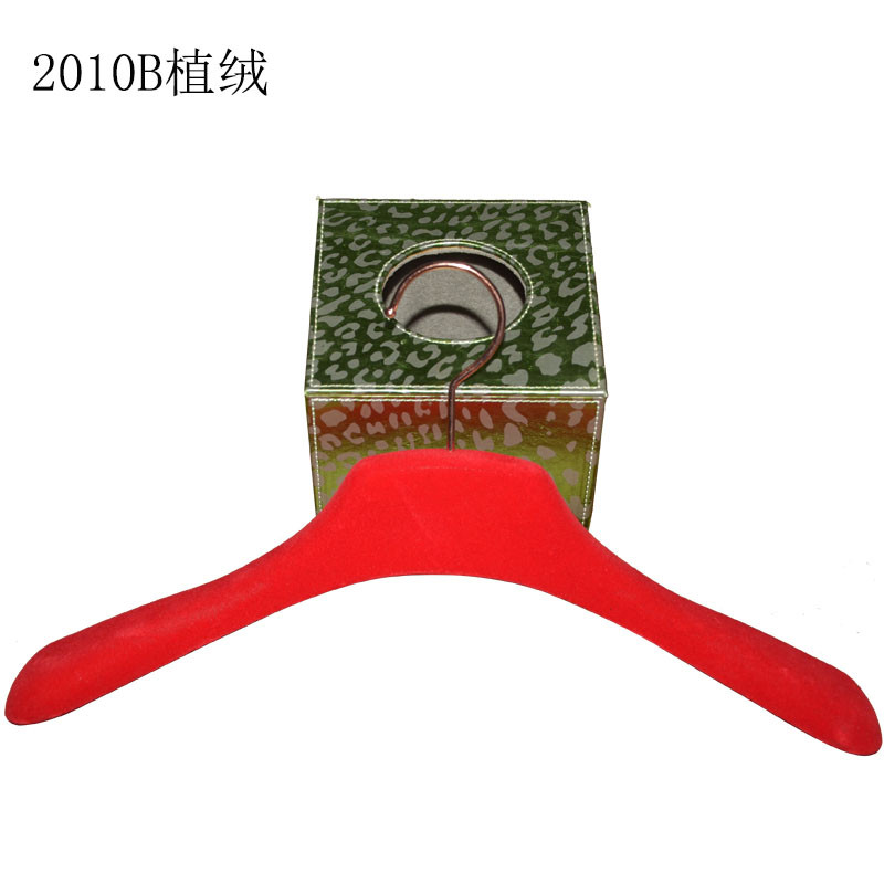 High End Red Velvet With Logo Women Skirt Plastic Hanger