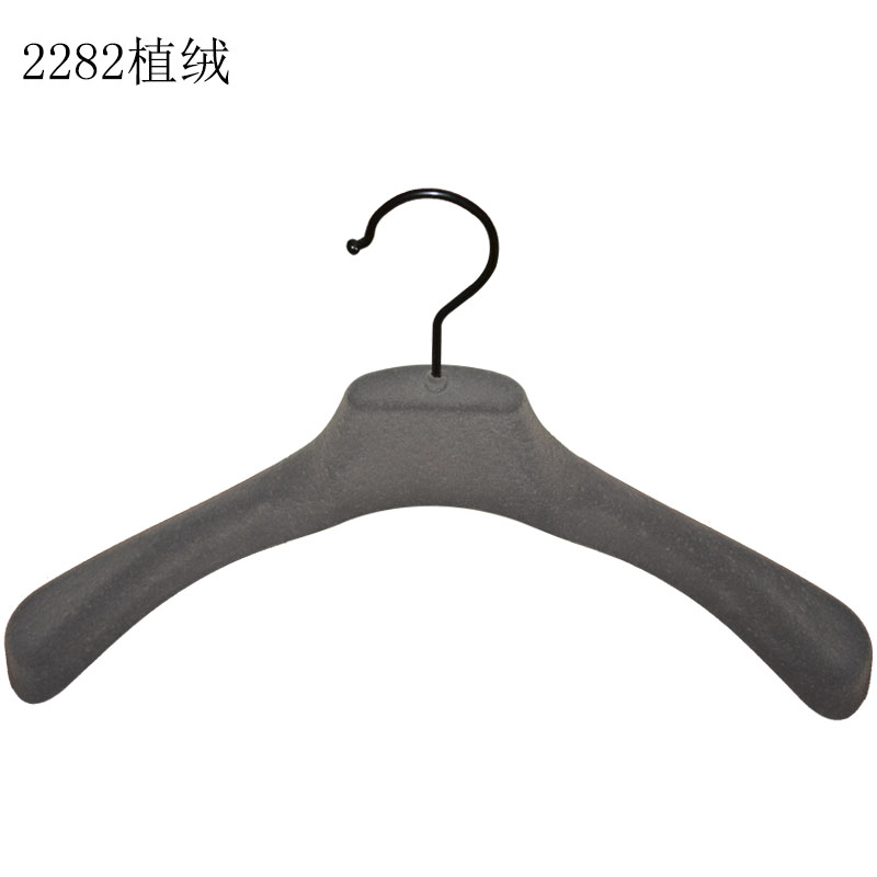 China Supplier Top Sale Customized Black Clip Hanger Clothes Plastic