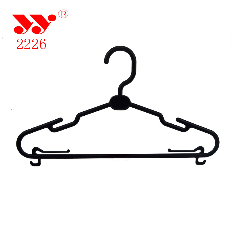 Black pp material plastic hanger with multifunctional uses