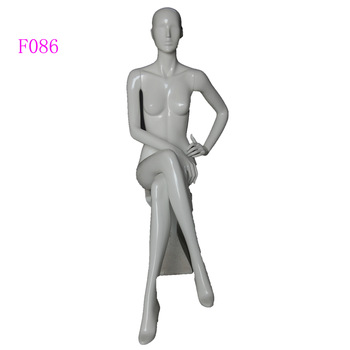 Full Body Female Sitting Mannequin With Head for Fashion Store