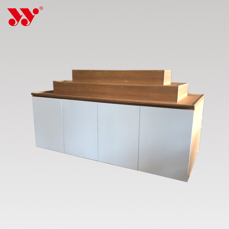 Three Layers Shoes Bags Garment Shops Cabinet Display Table