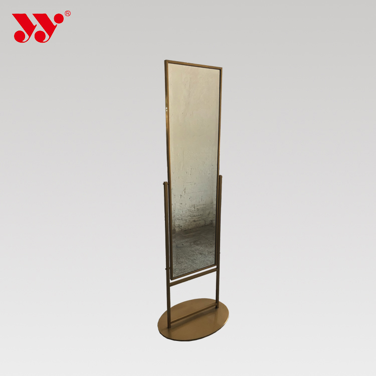 Golden Stainless Steel Standing Full-length Mirror