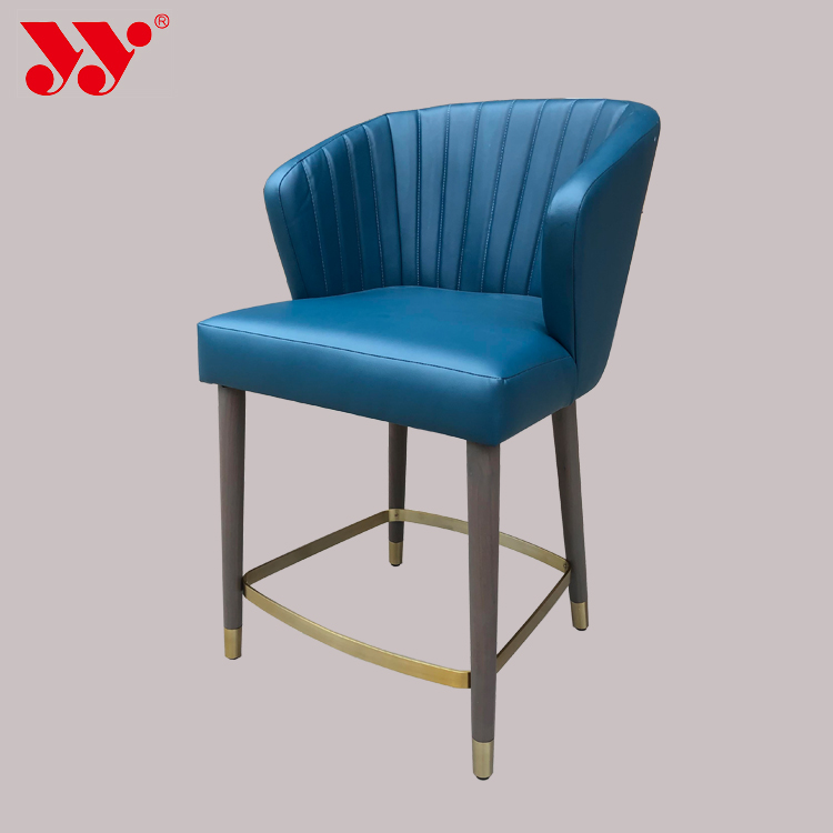 Blue Luxurious Hotel Bedroom Living Room Chair
