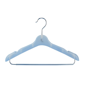 40cm Luxury anti slip notches plastic lady woman hanger with trouser bar for suits